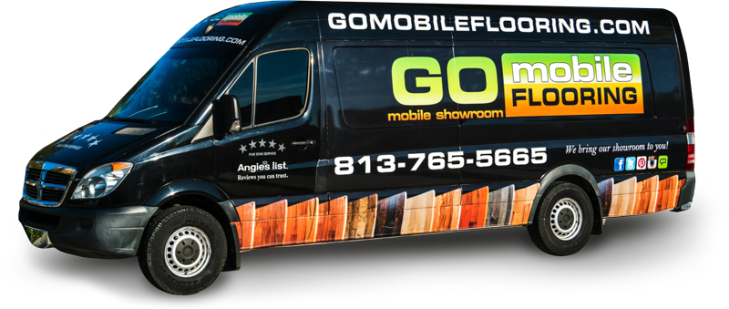 Flooring showroom that comes to you