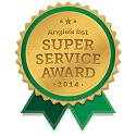 Super Service Award for 2014 on Angie's List