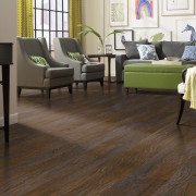 living room dark wood flooring
