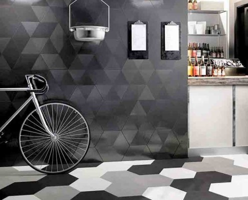 Artistic Tile porcelain mixed tiles hex