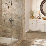 Porcelain tile and grout