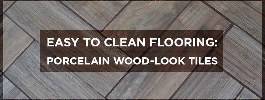 Easy to Clean Flooring-Porcelain Wood-Look Tiles
